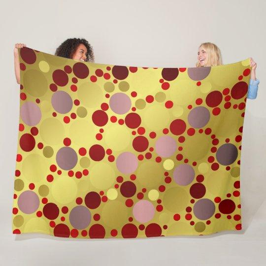shiny, round, circles, dots, metal, colourful, fleece blanket