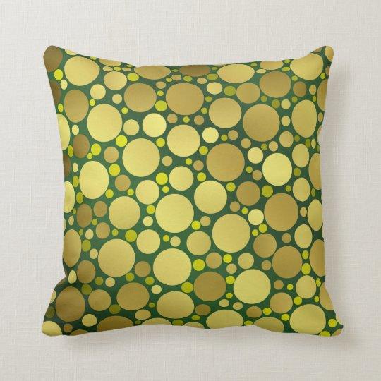 shiny, round, circles, dots, metal, colourful, throw pillow