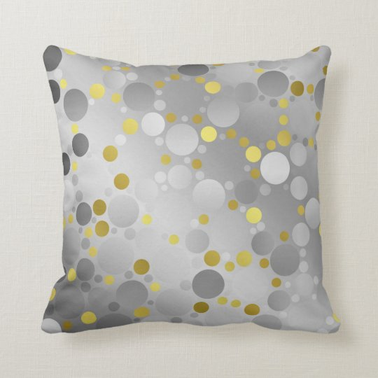 shiny, round, circles, dots, metal, colourful, throw pillow