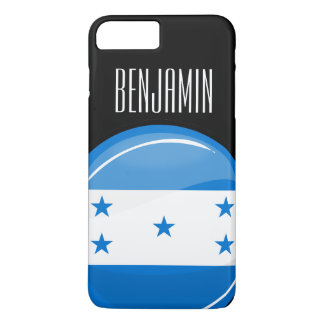 Shiny Round Honduran Flag iPhone 7 Plus Case