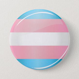 Shiny Round Transgender Pride Flag 3 Inch Round Button