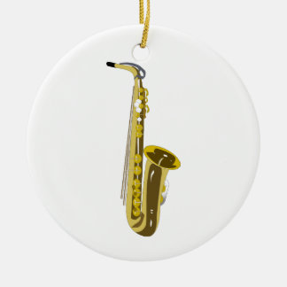 Shiny Saxophone Ceramic Ornament