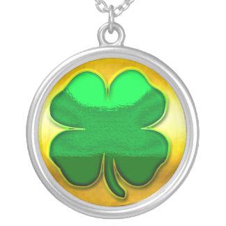 Shiny Shamrock Necklace