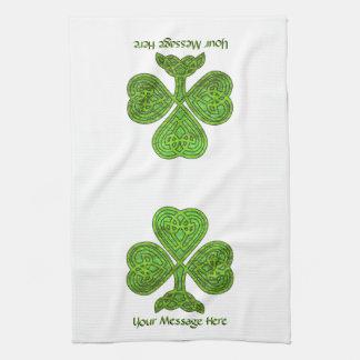 Shiny Shamrock St. Patrick's Day Personalized Kitchen Towel