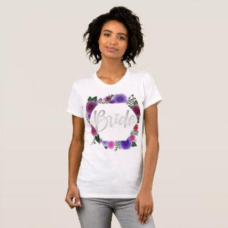 Shiny Silver Bride (floral hexagon) T-Shirt