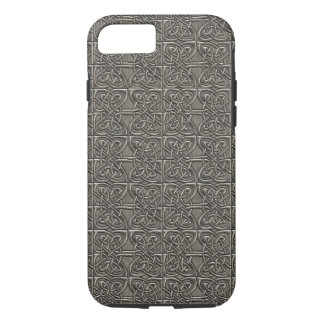 Shiny Silver Connected Ovals Celtic Pattern iPhone 7 Case
