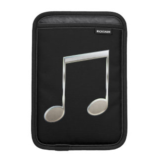 Shiny Silver Music Notation Beamed Whole Notes iPad Mini Sleeves