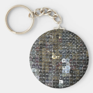 Shiny Silver Sequins Keychain