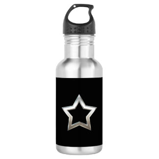 Shiny Silver Star Shape Outline Digital Design