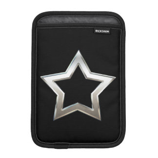 Shiny Silver Star Shape Outline Digital Design Sleeve For iPad Mini