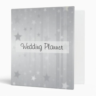 Shiny Silver Stars 3 Ring Binder