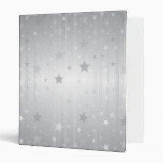 Shiny Silver Stars 3 Ring Binders