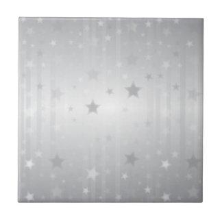 Shiny Silver Stars Tile