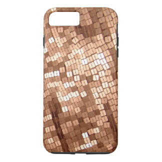 Shiny Sparkly Copper Colored Sequins iPhone 7 Plus Case