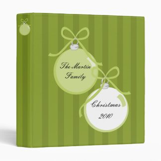 Shiny, Spiffy Ornaments 3 Ring Binders