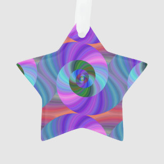 Shiny spiral pattern ornament