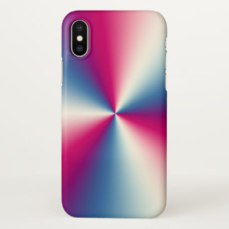 Shiny Stainless Steel  Look Silver blue & Red iPhone X Case