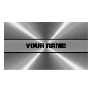 Shiny Stainless Steel Metal Double-Sided Standard Business Cards (Pack Of 100)