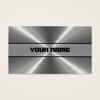 Shiny Stainless Steel Metal Business Card