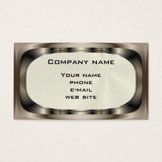 Shiny Steel ~ biz card