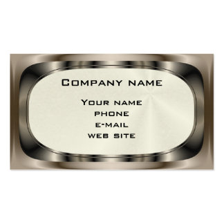 Shiny Steel ~ biz card Double-Sided Standard Business Cards (Pack Of 100)