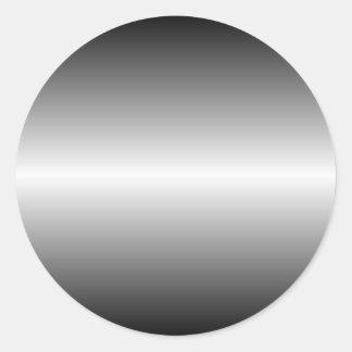Shiny Steel Round Sticker