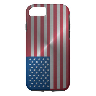 Shiny Steel USA Flag iPhone 7 Case