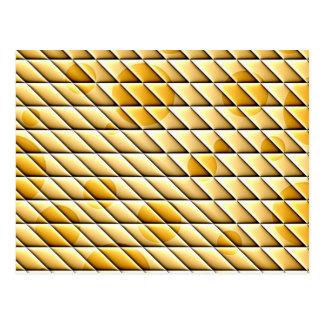 shiny tiles golden postcards