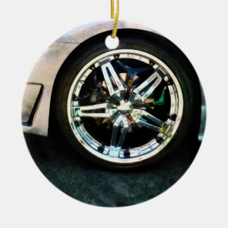 Shiny Wheels Ceramic Ornament