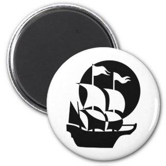 Ship 2 Inch Round Magnet