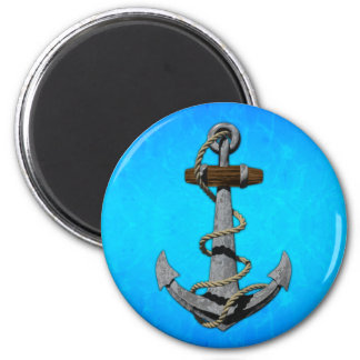 Ship Anchor 2 Inch Round Magnet