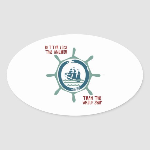 Ship And Wheel Sticker