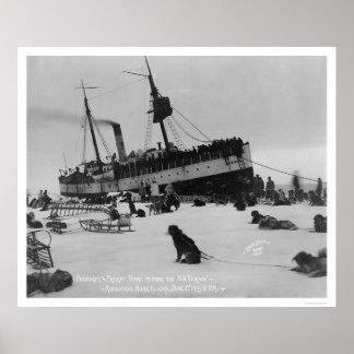 Ship Arrival Nome, Alaska 1914 Poster