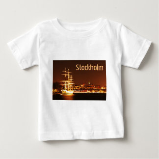 Ship at night in Stockholm, Sweden Baby T-Shirt