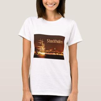 Ship at night in Stockholm, Sweden T-Shirt