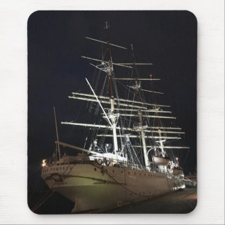 Ship at night mouse pad