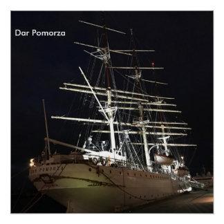 Ship at night perfect poster