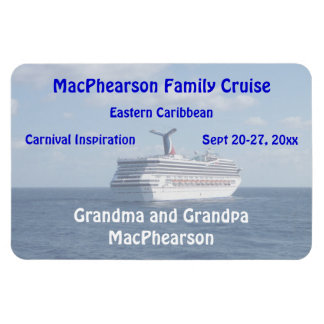 Ship at Sea Personalized Stateroom Door Marker Rectangular Photo Magnet