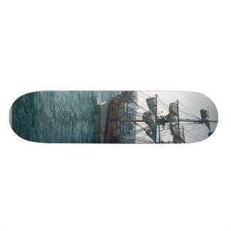Ship Boat Sailing Water Pier Custom Skate Board