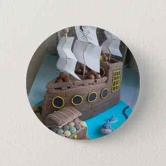 Ship cake 1 2 inch round button