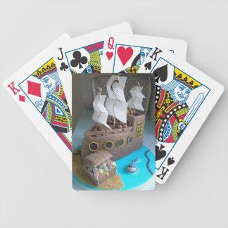Ship cake 1 bicycle playing cards