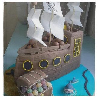 Ship cake 1 napkin