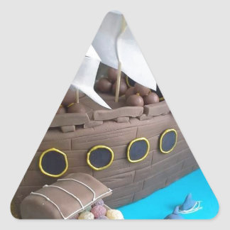 Ship cake 1 triangle sticker