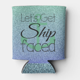 Ship Faced Can Cooler Glitter Ombre