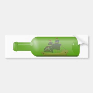Ship in a Bottle Bumper Sticker