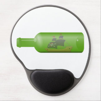 Ship in a bottle gel mouse pad