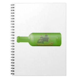 Ship in a bottle notebook