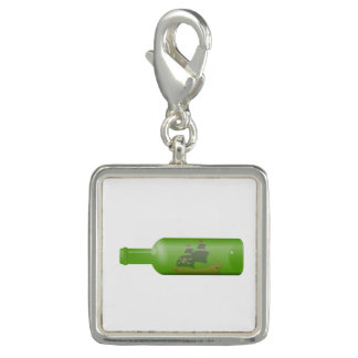 Ship in a bottle photo charm