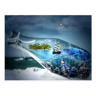 Ship in a Bottle Postcard