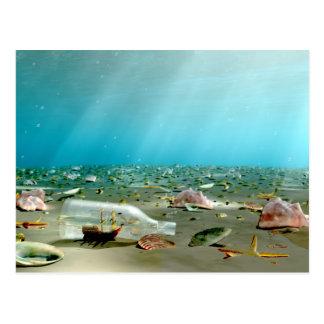 Ship-in-a-Bottle Wreck Postcard